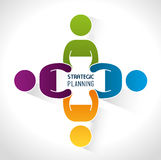 Strategic planning design. royalty free illustration