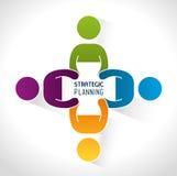 Strategic planning design. Royalty Free Stock Images