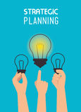 Strategic planning design. Royalty Free Stock Image