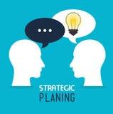 Strategic planning design. Royalty Free Stock Photography