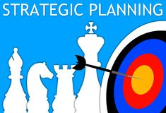 Strategic planning. Making plans and strategies for your company Stock Images