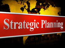 Strategic Planning Represents Business Strategy And Innovation Stock Image