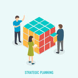 Strategic planning, Teamwork concept. Stock Photo