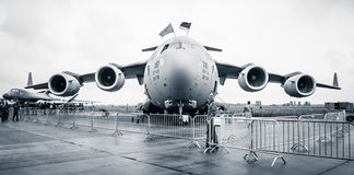 A strategic and tactical airlifter Boeing C-17 Globemaster III. Royalty Free Stock Images
