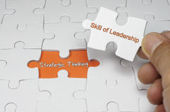 Strategic Thinking - Leadership Concept. Word puzzle of Strategic Thinking - Leadership Concept Royalty Free Stock Image