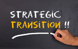 Strategic transition. Concept on chalkboard Royalty Free Stock Photo