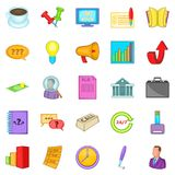 Strategics icons set, cartoon style Stock Photos