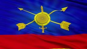 Strategiczne Rakietowe siły Rosja flaga zbliżenia Bezszwowa pętla ilustracji