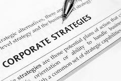 Strategie corporative immagini stock