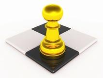 Strategie des Schachspiels Lizenzfreie Stockfotos