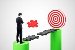 Strategie en het streven van concept vector illustratie