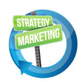 Strategie en marketing illustratieontwerp Stock Foto