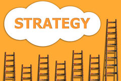 Strategie könnte herein und wordding über Erfolg des Geschäfts Lizenzfreie Stockbilder