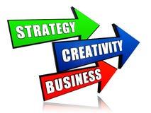 Strategie, Kreativität, Geschäft in den Pfeilen Lizenzfreie Stockfotos