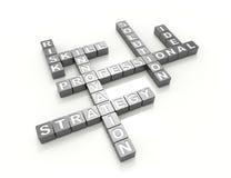 Strategie-Kreuzworträtsel-Konzept Lizenzfreies Stockbild