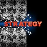 Strategie-Lösung Stockbild