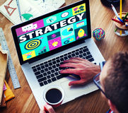 Strategie-Lösungs-Taktik-Teamwork-Wachstums-Visions-Konzept Lizenzfreie Stockfotos