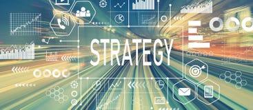 Strategie met abstracte hoge snelheidstechnologie Royalty-vrije Stock Afbeeldingen