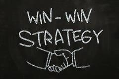 Strategie mit Gewinn für beide Parteien Stockbild