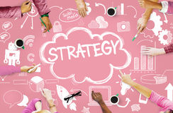 Strategie Online Sociaal Media Voorzien van een netwerk Marketing Concept Stock Foto