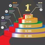 5 strategie piattaforma/della scala fanno un passo, modello di infographics di affari Immagine Stock Libera da Diritti