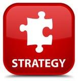 Strategie (raadselpictogram) speciale rode vierkante knoop Stock Afbeeldingen