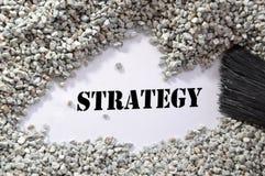 Strategie -- Schatz-Wort-Serie stockfoto