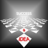 Strategie van succes Stock Afbeeldingen