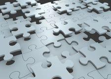 Strategiekonzept des Puzzlespiels bessert die Verbindung aus, zum einer Lösung zu einer Herausforderung zu bilden vektor abbildung