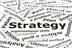 ?Strategien? Konzept mit anderen in Verbindung stehenden Wörtern Stockfotos