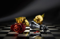 Strategien-Schach-Spiel stockbilder