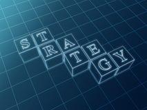 Strategienlichtpause Lizenzfreies Stockbild