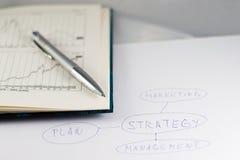 Strategienplan Stockbild