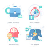 Strategies for Business Results. Abstract Features Concepts. Strategies that drive business results such as: global integration, fast customer support Stock Photos
