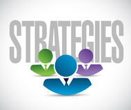 Strategies team sign illustration design graphic Stock Images