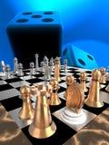Strategiespelen die op moeilijke taken wijzen om het 3d teruggeven te voltooien Stock Foto's