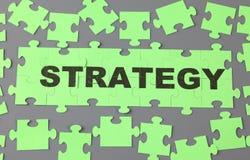 Strategii łamigłówka Zdjęcia Stock