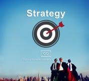 Strategii analizy misi celów Strategiczny pojęcie Obrazy Stock