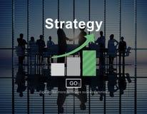 Strategii analizy misi celów Strategiczny pojęcie Fotografia Stock