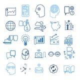 Strategii biznesowej ikony set Fotografia Royalty Free