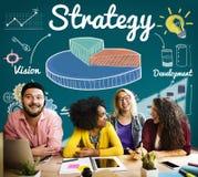 Strategii Biznesowej mapy wzroku rozwoju pojęcie Obrazy Stock