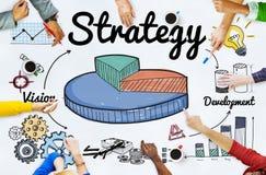 Strategii Biznesowej mapy wzroku rozwoju pojęcie Obraz Royalty Free