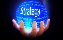 Strategii kuli ziemskiej tła planu błękitny kolor Obraz Stock