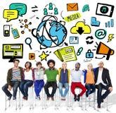 Strategii rozwiązania taktyk pracy zespołowej wzroku Wzrostowy pojęcie Zdjęcia Royalty Free