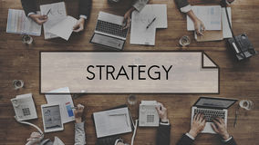 Strategii rozwiązanie Planuje Biznesowego sukcesu celu pojęcie Obrazy Royalty Free