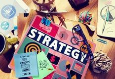 Strategii rozwiązania taktyk pracy zespołowej wzroku Wzrostowy pojęcie Zdjęcia Stock