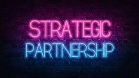 Strategisch partnerschap, groot ontwerp voor om het even welke doeleinden Het concept van de vennootschapsamenwerking Innovatie,  stock illustratie