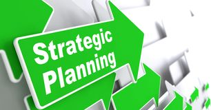 Strategische planning. Bedrijfsconcept. Royalty-vrije Stock Afbeelding