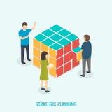 Strategische planning, Groepswerkconcept Stock Foto