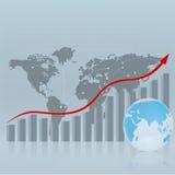 Strategische Schablone mit einer Karte. Stockfoto